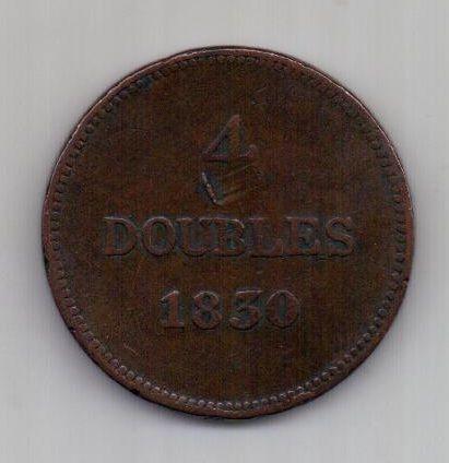 4 дубля 1830 г. Гернси