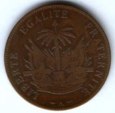 2 сантима 1886 г. Гаити