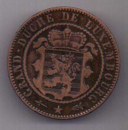 10 сантим 1870 г. Люксембург