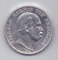 1 талер 1867 г. AUNC. Пруссия. Германия