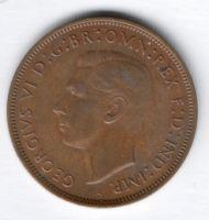 1 пенни 1939 г. Великобритания