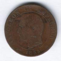 5 сантимов 1855 г. Франция
