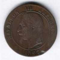 10 сантимов 1862 г. BB Франция