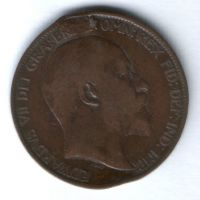 1/2 пенни 1902 г. Великобритания