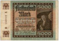 5000 марок 1922 г. Германия