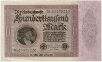 100000 марок Германия 1923 г.