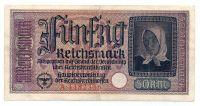 50 рейхсмарок 1939-1945 г. Германия для оккупированных территорий
