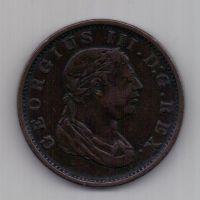1 стивер 1813 г. AUNC. Эссекуибо и Демерара. Великобритания