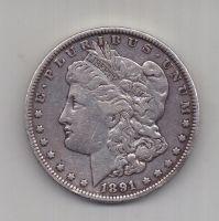 1 доллар 1891 г. США