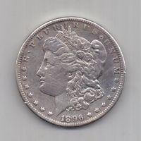 1 доллар 1896 г. S редкий. США