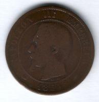 10 сантимов 1854 г. А Франция