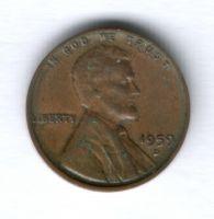 1 цент 1959 г. D США