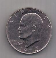 1 доллар 1972 г. D. США