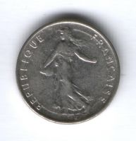 1/2 франка 1965 г. Франция