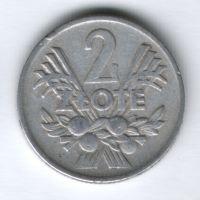 2 злотых 1960 г. Польша
