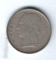 1 франк 1951 г. Бельгия