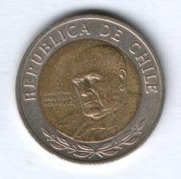 500 песо 2008 г. Чили