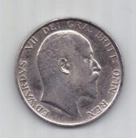 1 шиллинг 1906 г. AUNC. Великобритания