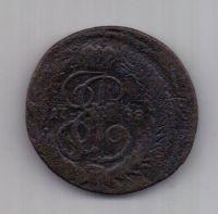 1 копейка 1788 г. R! перечекан ММ