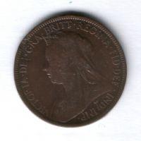 1/2 пенни 1900 г. Великобритания