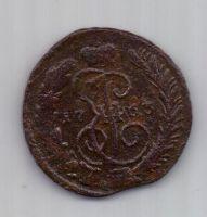 1 копейка 1763 г. ММ перечекан