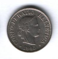 10 раппенов 1945 г. редкий год Швейцария
