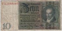 10 рейхсмарок 1929 г. Германия