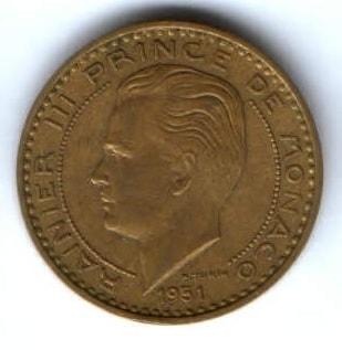 20 франков 1951 г. Монако