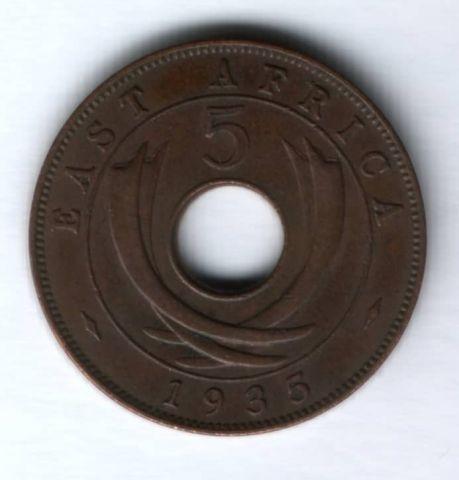 5 центов 1935 г. Восточная Африка