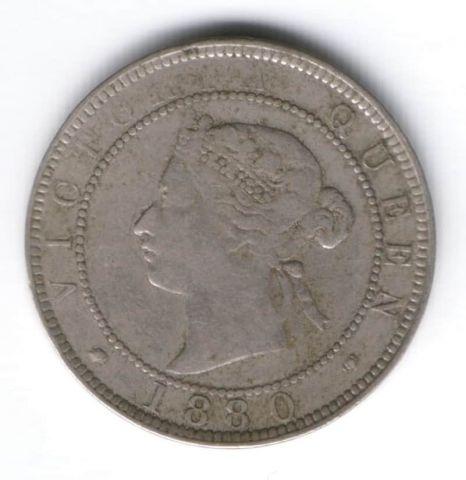 1 пенни 1880 г. Ямайка