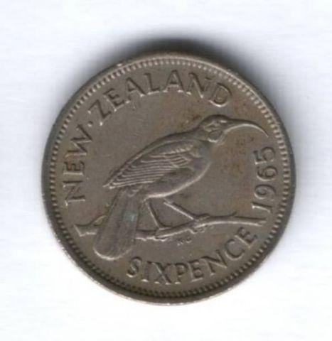 6 пенсов 1965 г. Новая Зеландия