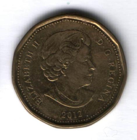 1 доллар 2012 г. Канада