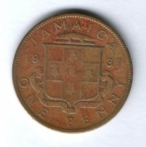 1 пенни 1937 г. Ямайка