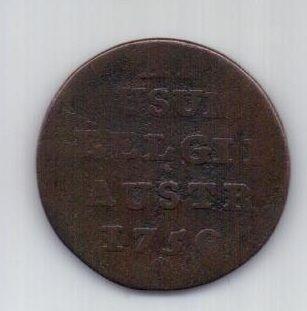 1 лиард 1750 г. Австрийские Нидерланды