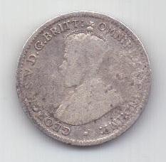 3 пенса 1915 г. редкий год. Австралия