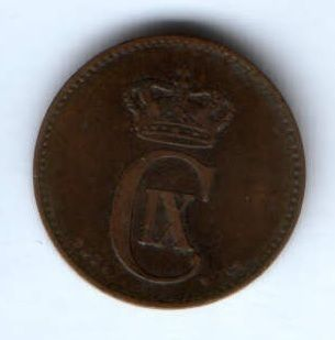 2 эре 1874 г. Дания