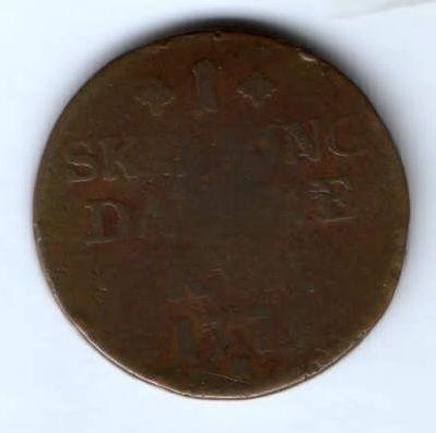 1 скиллинг 1771 г. Дания