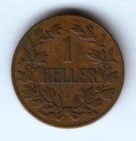 1 геллер 1904 г. Германская Восточная Африка