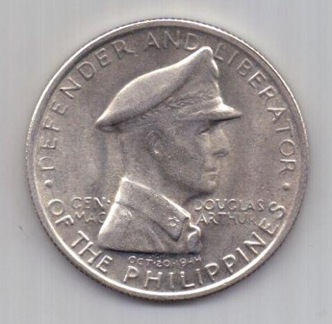 1 песо 1947 г. АUNC Филиппины . США