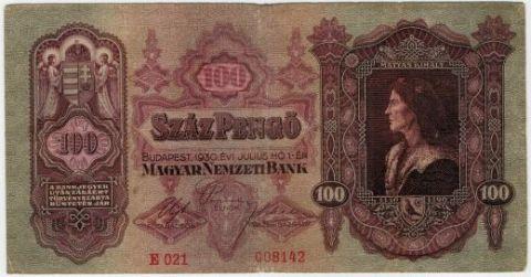 100 пенго 1930 г. Венгрия
