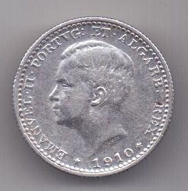 100 рейс 1910 г. AUNC.  Португалия