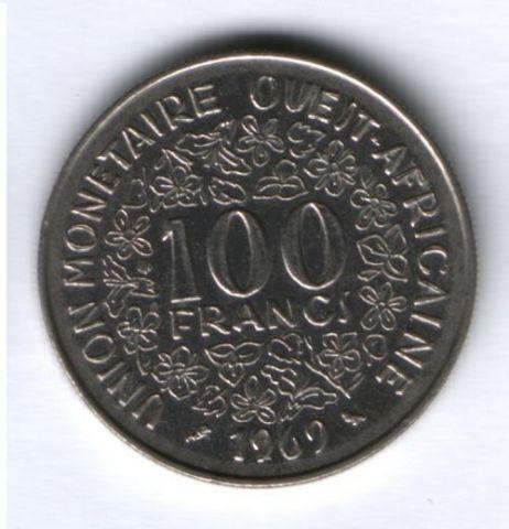 100 франков 1969 г. Западно-Африканские Штаты