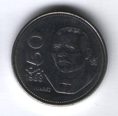50 песо 1988 г. Мексика