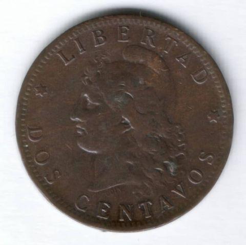 2 сентаво 1884 г. Аргентина