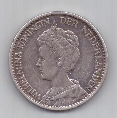 1 гульден 1914 г. XF Нидерланды