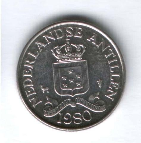 25 центов 1980 г. Нидерландские Антильские острова