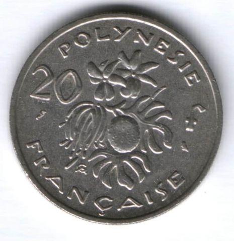 20 франков 1972 г. Французская Полинезия