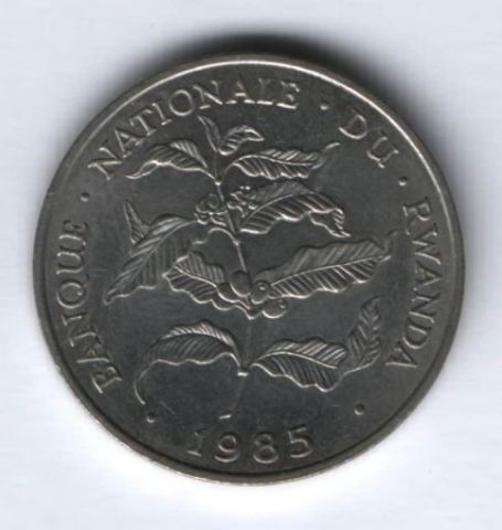 10 франков 1985 г. Руанда