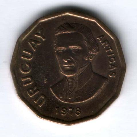 1 песо 1978 г. Уругвай