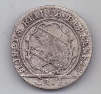 1 батцен - 4 крейцера 1789 г. Берн. Швейцария